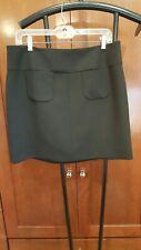 MEXX METROPOLITAN short black SKIRT pockets lined back zip black M L 40 EUC