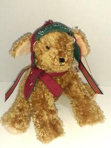 "Hallmark Buddy Hollyday 9"" Puppy Dog Buddies By The Bay Christmas Winter..."