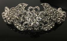 beautiful elegant metel clear rhinestone crystal hair clip barrette ha275225