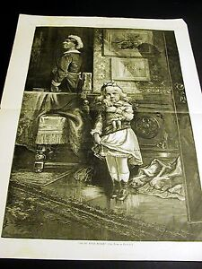 Thomas Nast GO to YOUR NURSE Little Girl w Doll Crying 1878 Large Print and POEM