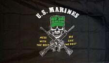 U.S. MARINES 5 X 3 FEET FLAG  flags MARINE CORPS AMERICA AMERICAN MILITARY USA