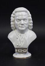Porcelaine Buste Compositeur Bach blanc/or Wagner & Apel H15cm 9942531