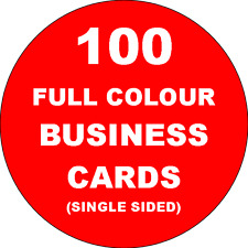 100 Full Colour Business Cards Printed on 350gsm Card