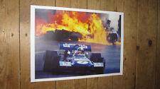 Jackie Stewart Fire F1 Legend POSTER