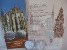 SLOWAKEI 2013 20 EURO SILBER ST BU HGH - KULTURHAUPTSTADT KOSICE - ERSTAUSGABE -