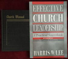 SDA Book Duo: Church Manual (1951) ~ Effective Church Leadership by Harris Lee