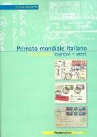2003 Libro Folder Primato Mondiale Italiano Espressi Aerei  Poste Italiane Italy