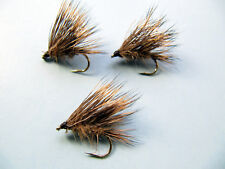 3 x SEDGE HOG HARE'S EAR,   DRY TROUT FLIES size 10,12,14,16 available