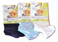 3 PAIRES SOCQUETTES INVISIBLES BÉBÉ FIL D'ÉCOSSE GELSO ART. 142 MADE IN ITALY