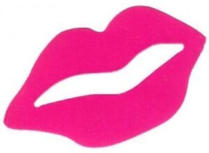 Lot of 50 Tanning Bed Body Stickers Pink Fuchsia Lips Tattoo