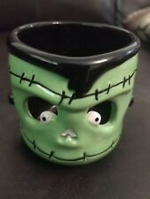 slatkin and co Frankenstein Halloween candleholder bath and body works signed