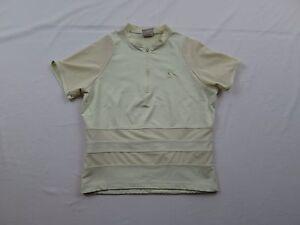 Cannondale Sport Womens Bike Cycling Jersey Shirt Sz M Medium Yellow Nylon MTB
