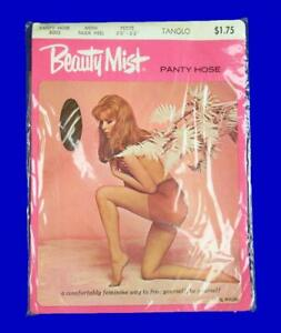 Beauty Mist Vintage Panty Hose Pink Package~Tanglo~Size Petite