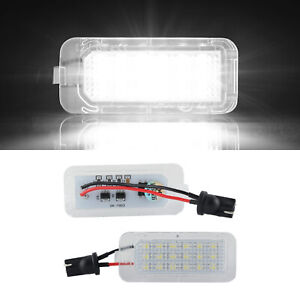 Pair LED License Plate tag Light Lamp For Ford Fiesta Explorer Escape Fusion MKC