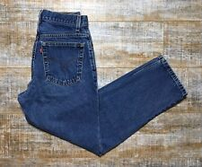 VTG Levi's 550 Blue Denim Jeans Size 8 MIS S Relaxed Fit Tapered Leg High Waist