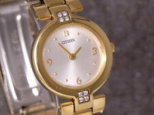 élégante CITIZEN montre bracelet pour femmes plaqué or quartz Référence