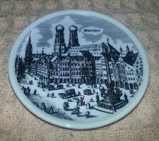 """Vintage 3.5"""" Coaster Size German Collector Plate for MUNCHEN"""