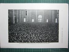 1917 WWI WW1 PRINT ~ GREAT ASSEMBLY MANCHESTER EXCHANGE PROTEST INDIAN COTTEN
