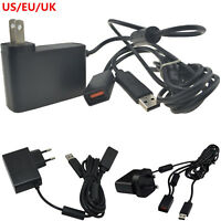 12V AC Adapter Power Supply Cord USB Cable for Xbox 360 Kinect Sensor Converter