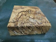SPALTED HACKBERRY DELUXE KNIFE BLOCK/SCALES/ CALLS/ PEN BLANKS--H--F--5