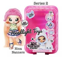 Series 2 Na Na Na Surprise NINA NANNERS 2 IN 1 Fashion Doll Pom Purse Confetti