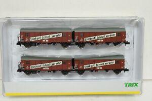 """Spur N--TRIX - 15512 ..Wagen-Set """"Leig-Wageneinheit DB""""  ..OVP ..G2 /58"""
