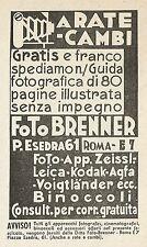 W3615 Apparecchi fotografici FOTO BRENNER - Pubblicità 1937 - Advertising