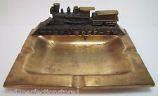 Old Chattanooga WDEF WDEF-TV Television Station Adv Copper Tray figural train