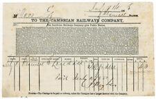 (I.B) Cambrian Railways : Parcel Way-Bill