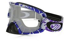 Maschera Oakley O2 O-Frame Mx Skull Rushmore Purple/Blue OO7068-10 Cross Enduro