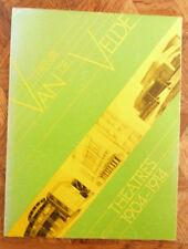 HENRI VAN DE VELDE PROJETS DU  THEATRES DESIGNS 1904-1914  1974