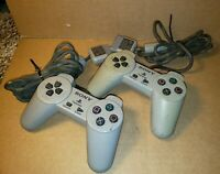 (Lot of 2) Official Sony PlayStation 1 PS1 Original One Controller Remote OEM