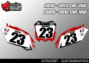 FOR HONDA CRF 250 450 PRINTED BACKGROUNDS GRAPHICS NUMBERS MX DECALS STICKERS