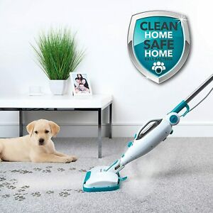 12 in 1 Flexi Steam Mop Multi Cleaner Carpet Hard Floors Upholstery Window Tools