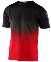 TROY LEE DESIGNS MENS BLACK RED SKYLINE STAINED SS MTB CYCLING JERSEY X LARGE XL