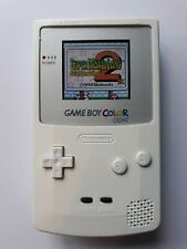 White Nintendo Gameboy Color Console With Backlit LCD Mod