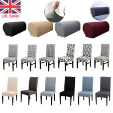 Dining Chair Seat Covers Removable Sofa Arm Chair Protector Spandex Banquet Home