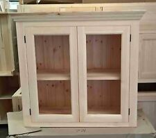 kitchen wall cabinet with glazed doors