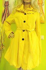 Erich Fend designet in Austria Elegante Damen Mantel Jacke Gr36 gelb