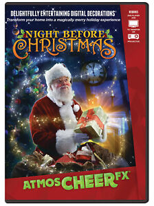 AtmosCHEERfx Night Before Christmas DVD Digital Decoration Display