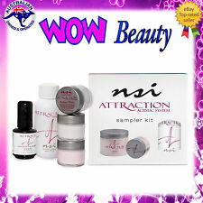 NSI ATTRACTION Sampler Kit - Acrylic Nail Liquid + Powders + Primer + Free Gift