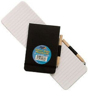 1 x Police Style Elasticated Notebook with Pencil 96 Sheet Note Pad - 300789