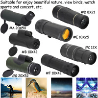 Outdoor Portable 8-20X HD Optical Monocular Hunting Camping Concert Telescope