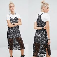 the ragged priest downfall dress / S / BNWT / two piece lace midi