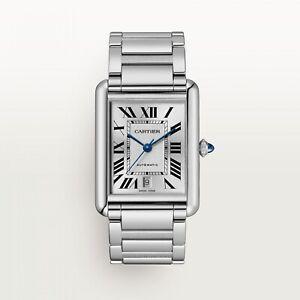 New 2021 Cartier Tank Must de Cartier XL Model Steel Automatic Watch WSTA0053