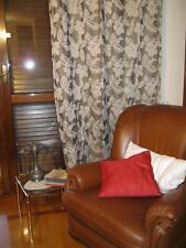 Tenda arredamento casa marrone bianco 1 telo con anelli cm 140 x h 280 oscurante