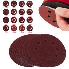 """10x 5""""Inch/125mm 8Hole Hook Loop Sanding Discs 40-2000Grit Orbital Sandpaper Pad"""
