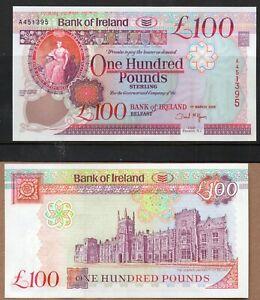 ***NORTHERN IRELAND** **BANK OF IRELAND £100 NOTE** **2005** **UNC** **A451395**