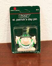 "1987 ZIGGY CARTOON FIGURE ST. PATRICK'S DAY ""HERE'S TO THE IRISH"" 3-D PIN MOC"