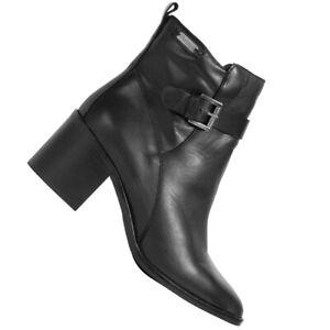 Pepe Jeans Cooper Jil Damen Freizeit Leder Stiefeletten PLS50078-999 schwarz neu